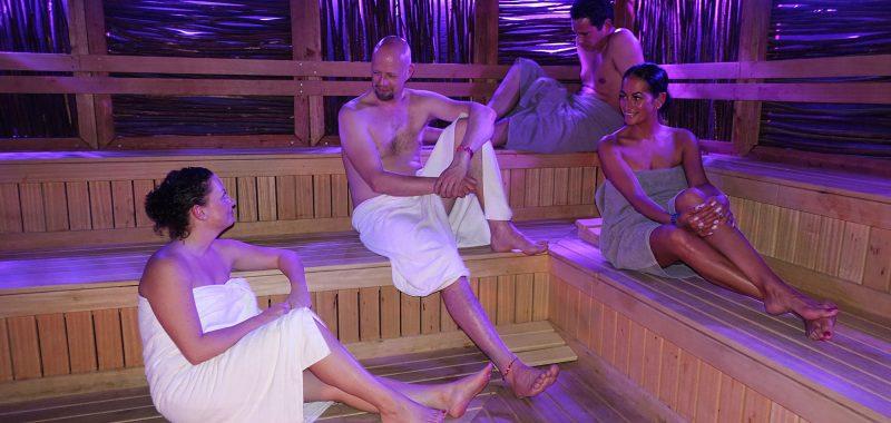 De houtgestookte sauna